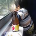 はっくん、電車に乗る。