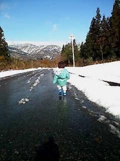 ※雪道を闊歩※