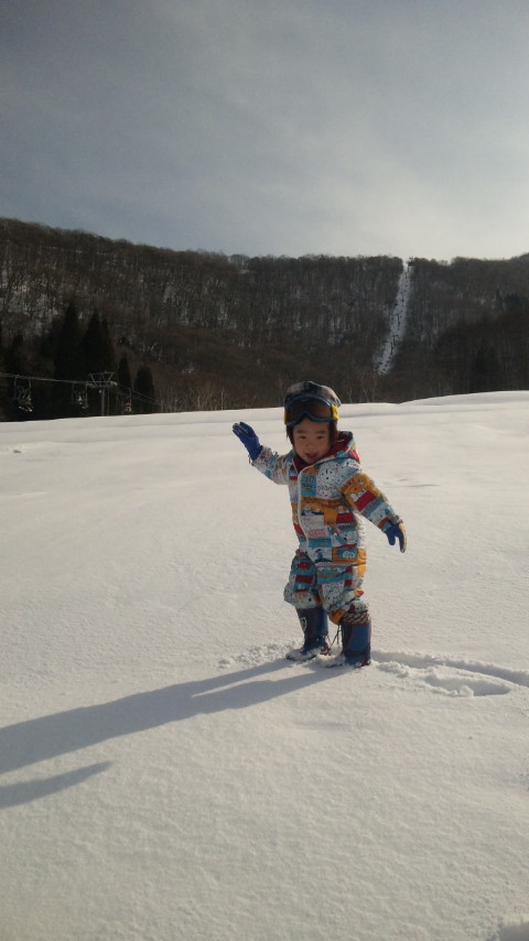 スキー場へ。